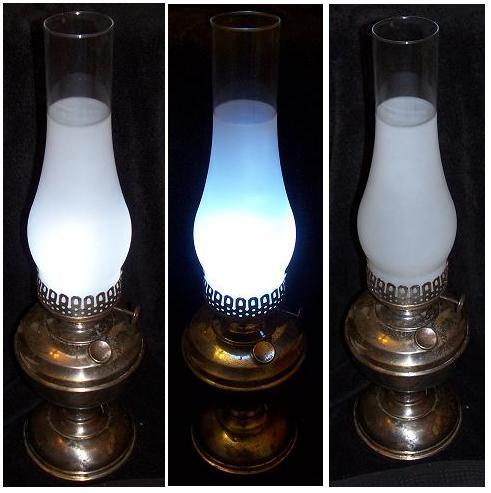 LED oil lamp for camp